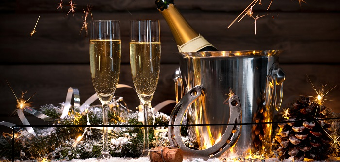 Nachtisch zur Silvesterparty. Viel Glueck fuers neue Jahr