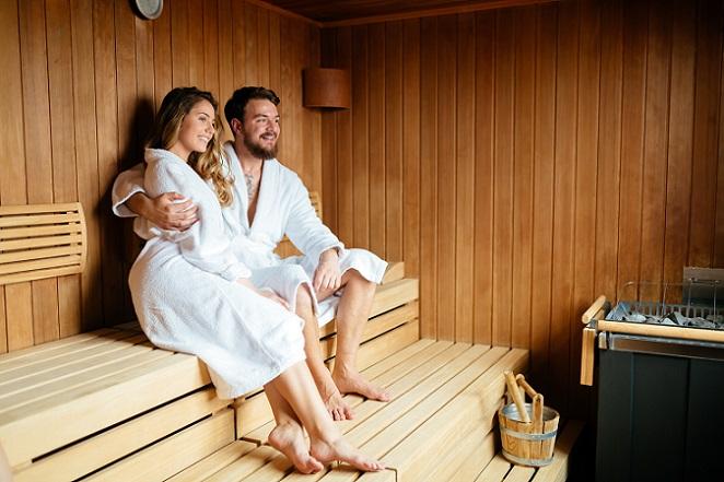 Neben der Therme bietet die Bali Therme auch eine Saunalandschaft. Ein Saunagang hilft bei der Entspannung und ist zudem noch gut für die Gesundheit. (#02)