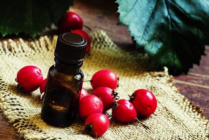 Ebenso reguliert das Öl der Hagebutte die Talgproduktion der Haut und zeigt sich entzündungshemmend. (#02)