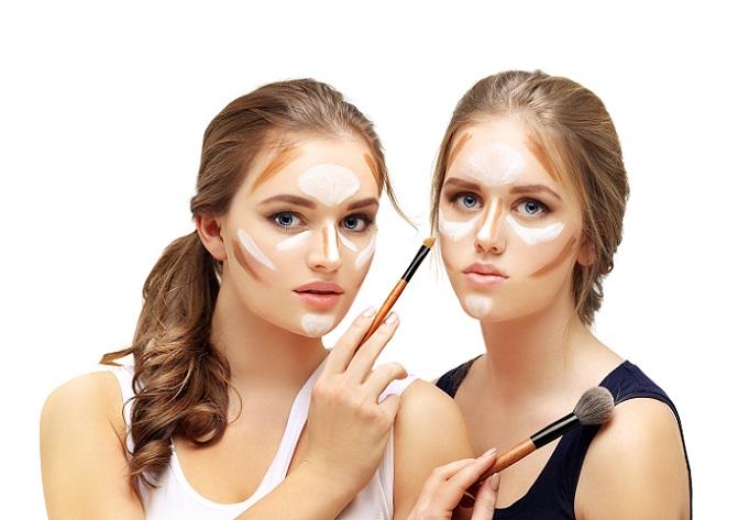 Wie das Contouring eingesetzt wird, hängt von der jeweiligen Gesichtsform ab, denn hier gibt es teilweise deutliche Unterschiede, auf die geachtet werden muss. (#02)