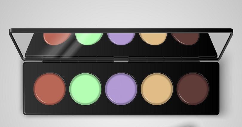 Der Corrector gleicht farbliche Makel aus und funktioniert nach dem Prinzip der Komplementärfarben, die sich gegenseitig aufheben.(#02)